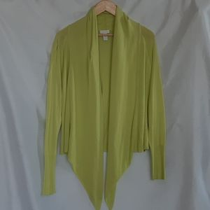 CHICO'S lime green size 1 Cardigan
